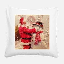 Unique Snowman Square Canvas Pillow