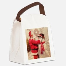 Funny Snowman Canvas Lunch Bag