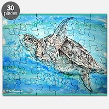 Sea Turtle! Wildlife art! Puzzle