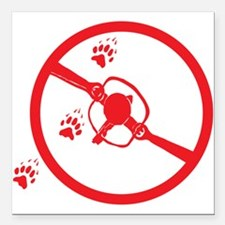 """No trapping Square Car Magnet 3"""" x 3"""""""