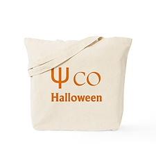 Psycho Halloween, Greek Letter Tote Bag
