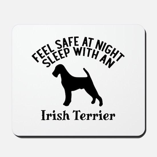 Sleep With Irish Terrier Dog Designs Mousepad