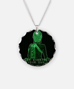 Buddha Doubt Everything Find Necklace Circle Charm