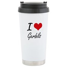 I love Gerbils Travel Coffee Mug