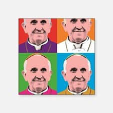 "Pope Francis Tour Square Sticker 3"" x 3"""