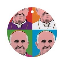 Pope Francis Tour Round Ornament