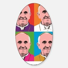 Pope Francis Tour Sticker (Oval)