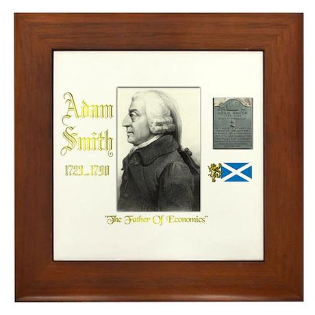 Adam Smith. Framed Tile