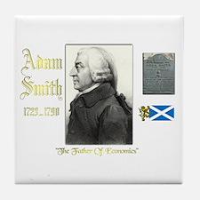 Adam Smith. Tile Coaster