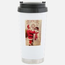 Santa and Snowman Stainless Steel Travel Mug