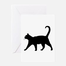 Black Cat Greeting Cards