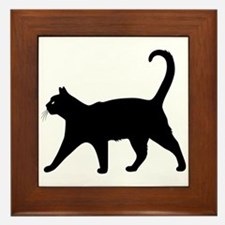 Black Cat Framed Tile