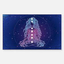 Yoga Girl Detailed Design Sticker (Rectangle)