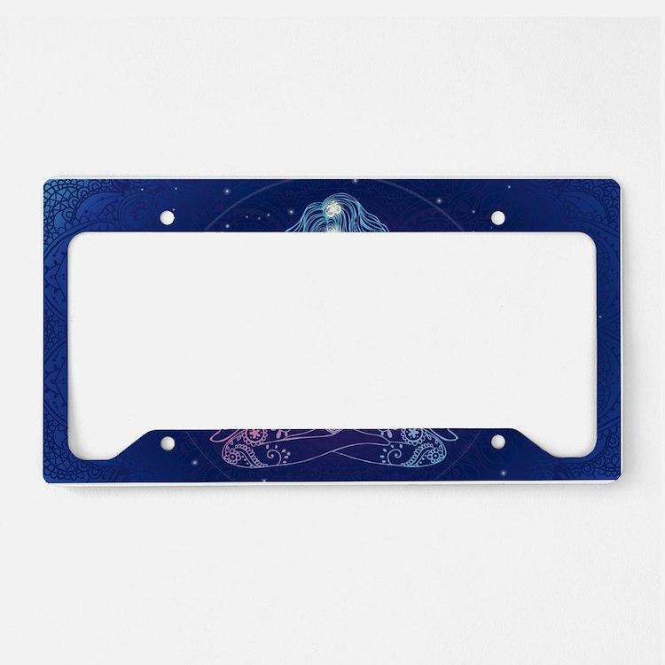 Yoga Girl Detailed Design License Plate Holder