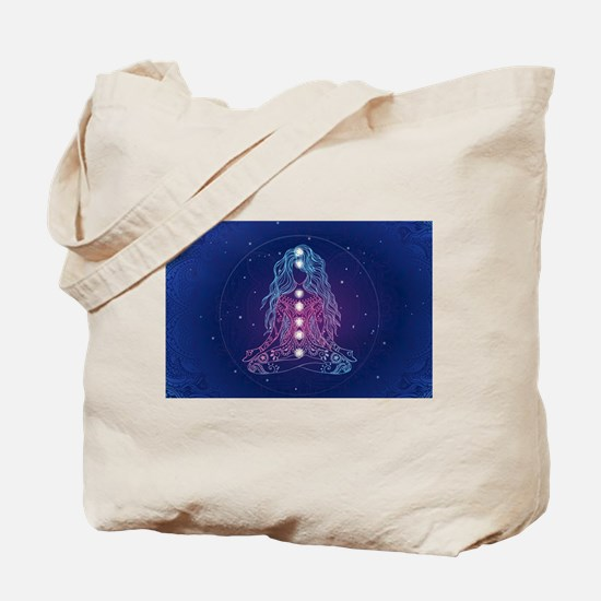 Yoga Girl Detailed Design Tote Bag