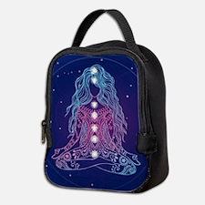 Yoga Girl Detailed Design Neoprene Lunch Bag