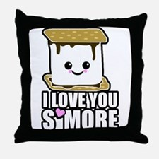 I Love You Smore Throw Pillow