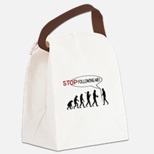 STOP FOLLOWING ME - EVOLUTION Canvas Lunch Bag