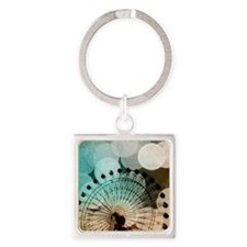 At the Fair Square Keychain