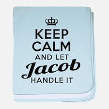 Keep Calm Jacob baby blanket