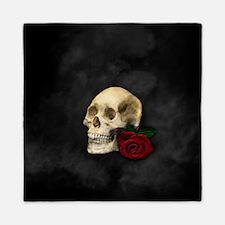 Cute Skull roses Queen Duvet