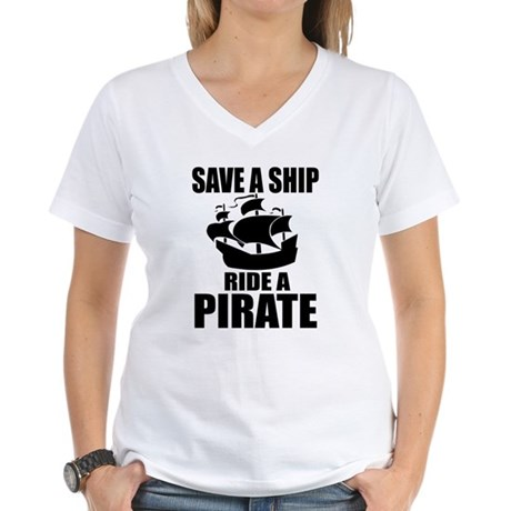 Save A Ship Women's V-Neck T-Shirt