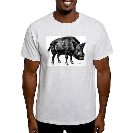 Wild Boar (Front) Ash Grey T-Shirt