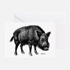 Wild Boar Greeting Cards (Pk of 10)