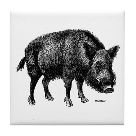Wild Boar Tile Coaster