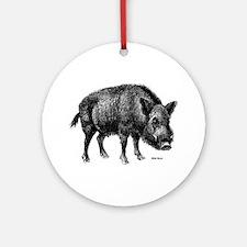 Wild Boar Ornament (Round)