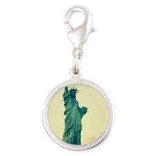 Statue of Liberty Good Tidings Silver Round Charm