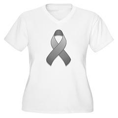 Gray Awareness Ribbon T-Shirt