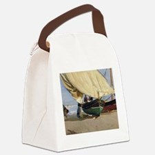 Fishermen Beached Boat, Valencia Canvas Lunch Bag