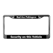 Bad Ass Pekingese License Plate Frame