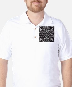 Paris vintage black lace Golf Shirt