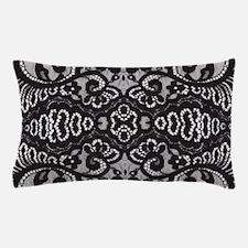 Paris vintage black lace Pillow Case