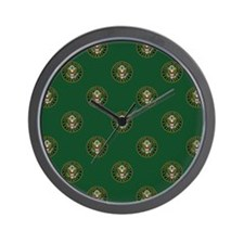 U.S. Army Green Seal with Eagle Repeati Wall Clock