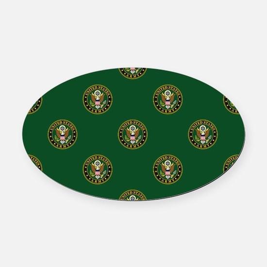 U.S. Army: Army Symbol (Green) Oval Car Magnet