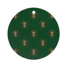 U.S. Army Green Seal with Eagle Rep Round Ornament