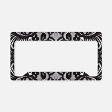 Paris vintage black lace License Plate Holder