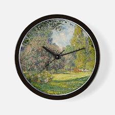 The Parc Monceau - Claude Monet Wall Clock