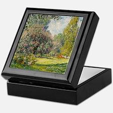 The Parc Monceau - Claude Monet Keepsake Box
