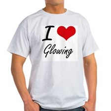 I love Glowing T-Shirt