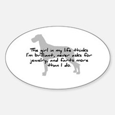 Girl in my life Natural Ears Oval Decal