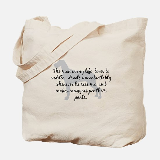 Man in my Life Natural Ears Tote Bag