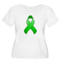 Green Awareness Ribbon T-Shirt