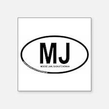 """Cute Mj Square Sticker 3"""" x 3"""""""