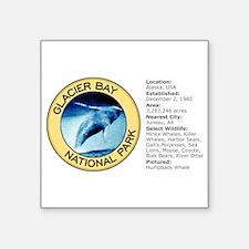 """Unique Glacier bay Square Sticker 3"""" x 3"""""""