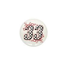 RaceFashion.com 33 Mini Button
