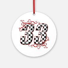 RaceFashion.com 33 Ornament (Round)